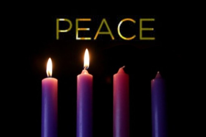 peace two candles